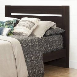 Matte Brown Full/Queen Headboard, Metal Bed Frame, Made from Laminated Particle Board, Bedding,  ...