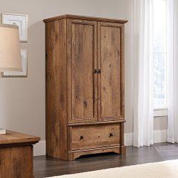Sauder 420608 Armoire, 36.299″ L X 21.417″ W X 66.614″ H, Vintage Oak