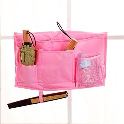 MoYag 8 Pockets Bedside Storage Caddy Hanging Organizer Bag Improved 3 POM Buckles Bunk Hospital ...