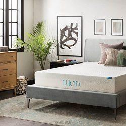 LUCID 12 Inch Gel Memory Foam Mattress – Triple-Layer – 4 Pound Density Ventilated G ...