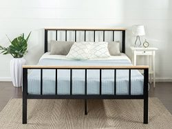 Zinus Contemporary Metal Wood Platform Bed, Queen