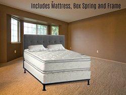 Mattress Solution, 10″ Medium Plush Pillowtop Orthopedic Fully Assembled  Mattress and Met ...