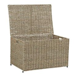 Household Essentials ml-5665 Decorative Wicker Chest with Lid for Storage and Organization | Lar ...