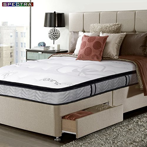 spectra 14 inch double sided pillow top pocket coil plush orthopedic mattress zbbip zbbip. Black Bedroom Furniture Sets. Home Design Ideas