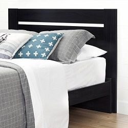 Full/Queen Headboard, Black Onyx, Metal Bed Frame, Made from Laminated Particle Board, Bedding,  ...