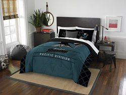 The Northwest Company Officially Licensed NHL San Jose Sharks Draft Full/Queen Comforter and 2 S ...
