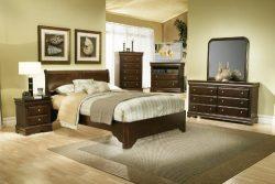 Alpine Furniture Chesapeake 4 Piece Bedroom Set, Full Size