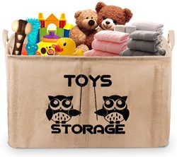 Gimars 22″ Upgrade Well Standing Toy Chest Baskets Storage Bins for Dog Toys, Kids & C ...