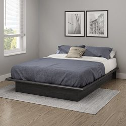 South Shore 10441 Platform Bed Step One Full, 54″, Gray Oak