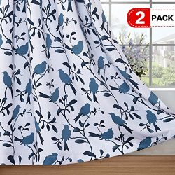 H.VERSAILTEX Thermal Insulated Room Darkening Curtains for Living Room Blackout Window Treatment ...