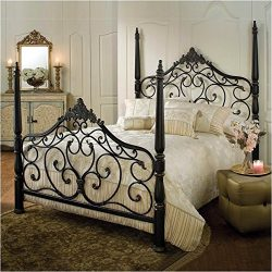 Hillsdale Furniture 1450BQR Parkwood Bed Set with Rails, Queen, Black Gold