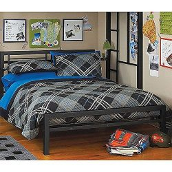 Black Full Size Metal Bed Platform Frame, Great Addition to any Kids or Boys Bedroom Set. Nice B ...