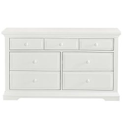 Evolur Parker Double Dresser, Winter White