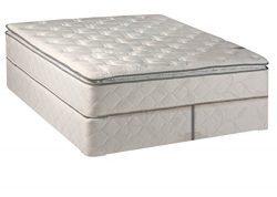 Continental Matress, 10-inch Medium Plush Innerspring Pillowtop Mattress and Split Box Spring/Fo ...