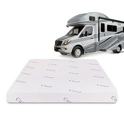 Lifestyle Sleep 8 inch Cool Blue Memory Foam RV/Camper / Trailer/Truck Mattress, Short Queen + ( ...