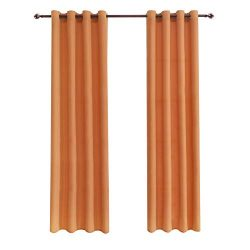 DWCN Semi Sheer Curtains Sunlight Filtering Country Modern Style Draperies 8 Grommets Window Ora ...