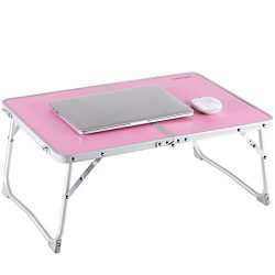 Laptop Table for Bed, Superjare Portable Outdoor Camping Table, Breakfast Serving Bed Tray with  ...
