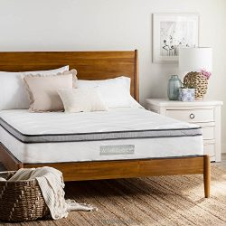 WEEKENDER 10 inch Hybrid Mattress – Memory Foam Motion Isolating Springs – 10 Year W ...