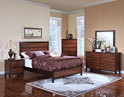 New Classic 00-145-35C Bishop 5-Piece Bedroom Set, Queen Bed, Dresser, Mirror, Nightstand and Ch ...