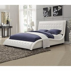 Coaster Home Furnishings 300372Q Transitional Bed, Queen, White
