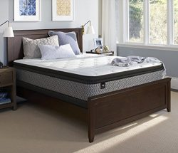 Sealy Response Essentials 13-Inch Plush Euro Pillow Top Mattress, Twin