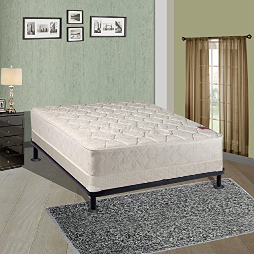 Continental Sleep Elegant Collection Twin Size Mattress Set with Firm Mattress and Low Profile B ...