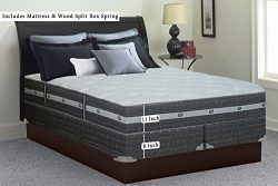 Greaton, 11-inch Soft Innerspring Pillowtop Mattress and Box Spring/Foundation Set, No Assembly  ...