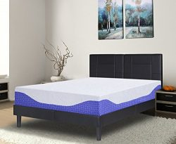 "PrimaSleep Multi-Layered I-Gel Infused Memory Foam Mattress, Cobalt Blue, 12"" H/Queen"