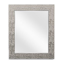 Wall Beveled Mirror Framed – Bedroom or Bathroom Rectangular Frame Hangs Horizontal &  ...