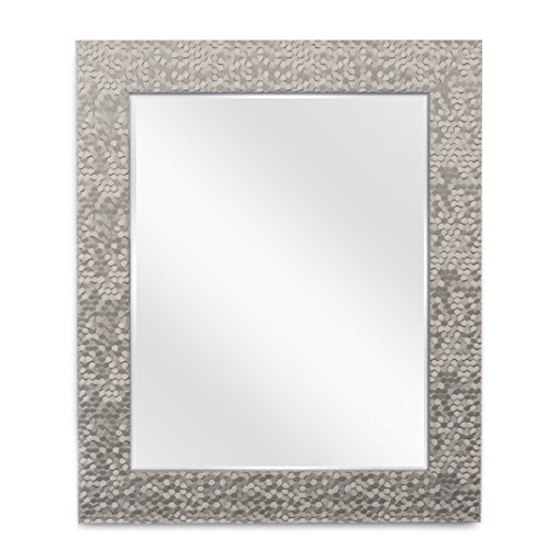 Wall Beveled Mirror Framed - Bedroom or Bathroom Rectangular Frame ...