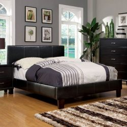 247SHOPATHOME IDF-7008F Platform-Beds, Full, Espresso