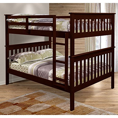 Donco Kids Mission Bunkbed with Slat-Kits – Full over Full