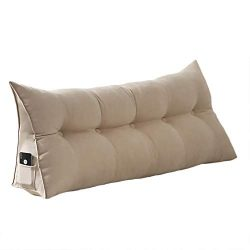 VERCART 100% Polyester Sofa Bed Large Soft Upholstered Headboard Filled Wedge Cushion Bed Backre ...