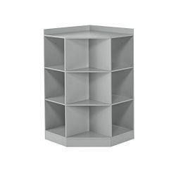 RiverRidge 6-Cubby, 3-Shelf Kids Corner Cabinet, Gray