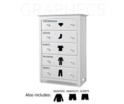 Dresser Decal Labels Boys Drawer Bedroom Organizing Vinyl Decal Sticker Organize Home Decor