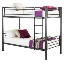 Mecor Metal Bunk Bed Twin Over Twin – Easy Assembly – with Removable Ladder –  ...