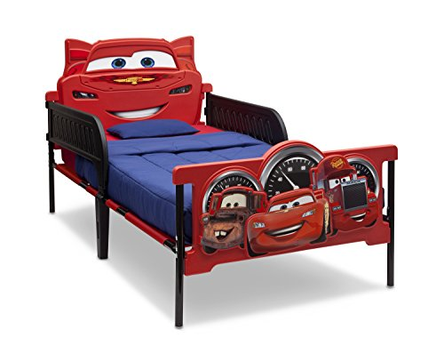 Delta Children Plastic 3D-Footboard Twin Bed, Disney/Pixar Cars