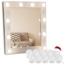 Vanity Light Mirror Hollywood LED Lights For Mirror With 10 Dimmable Light Bulbs, Oroncho Vanity ...