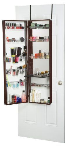 Mirrotek Over The Door Beauty Armoire and Makeup Organizer