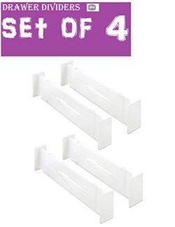 Ybmhome Adjustable Grid Drawer Dividers separators for Kitchen Bathroom Bedroom Dresser Utility  ...