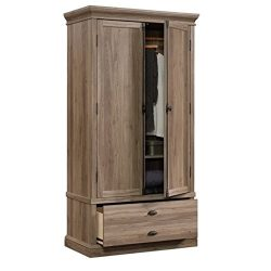 Sauder 418891 Barrister Lane Bedroom Armoire L: 40.91″ x W: 21.42″ x H: 78.90″ ...