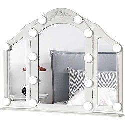 LED Vanity Mirror Lights Kit – MRah Upgraded 2 Color Lighting Modes Makeup Mirror Lighting Fixtu ...