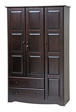 100% Solid Wood Grand Wardrobe/Armoire/Closet by Palace Imports, Java, 46″ W x 72″ H ...
