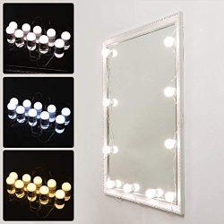 Vanity Mirror Makeup Lamp, KeepTpeeK 10 Bulbs Vanity 3 Color Lighting Modes Brightness Dimmable  ...