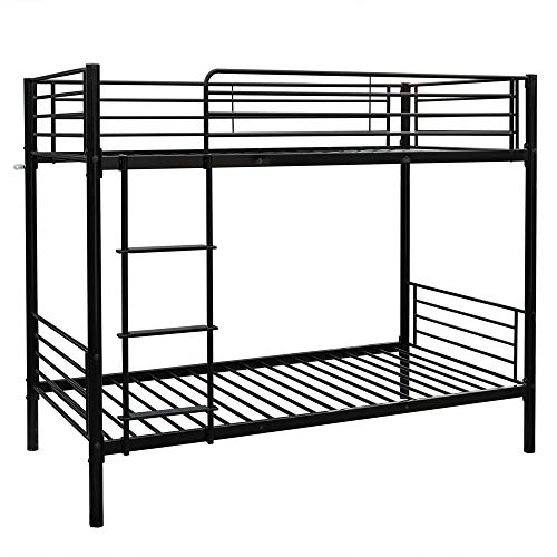 Bonnlo Metal Bunk Bed Twin Over Twin Heavy Duty Bed Frame