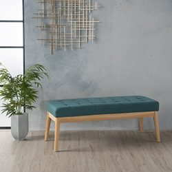 Anglo Deep Teal Fabric Bench
