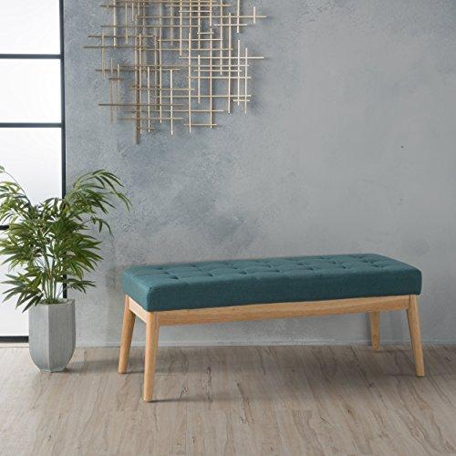 Anglo Deep Teal Fabric Bench
