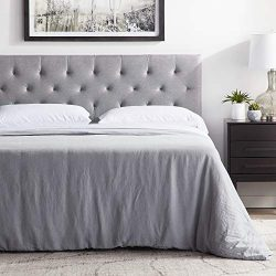 """LUCID Mid-Rise Upholstered Headboard – Adjustable Height from 34"""" to 46"""" – Queen &#8 ..."""