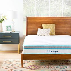 Linenspa 10 Inch Memory Foam and Innerspring Hybrid Mattresses – Medium Feel – Queen