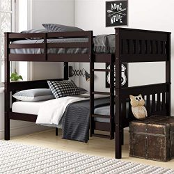 Dorel Living Moon Full Over Full Bunk Bed with USB Port, Espresso